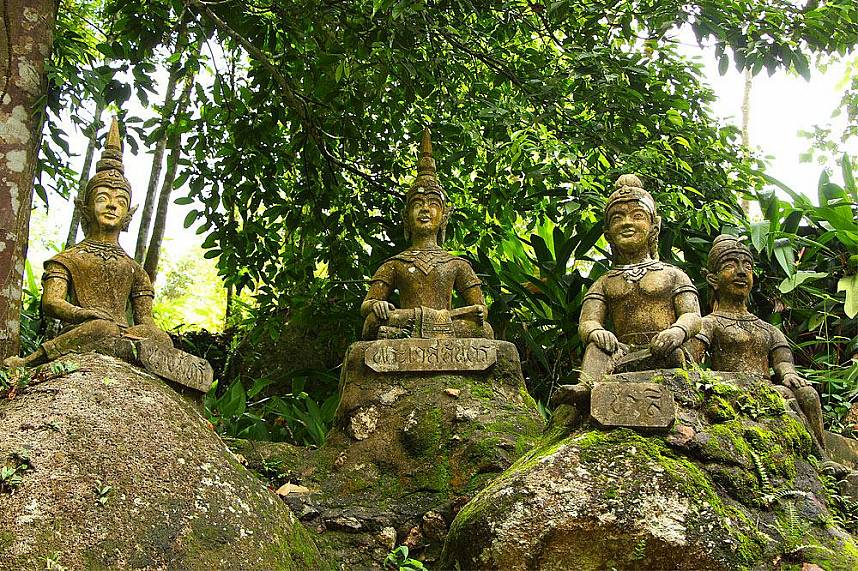 Buddha statues at Tanim Waterfall and Magic Garden Koh Samui