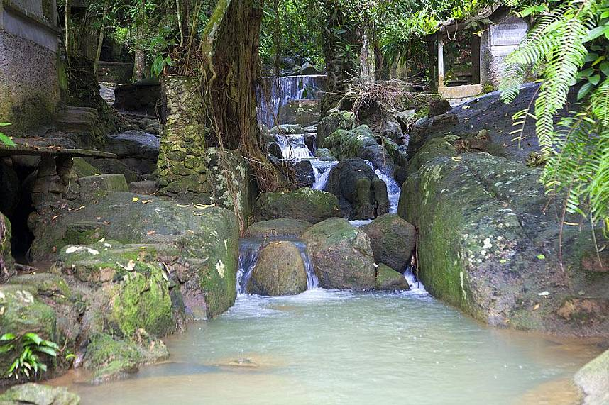 Small cascades at Tanim Waterfall and Magic Garden Koh Samui
