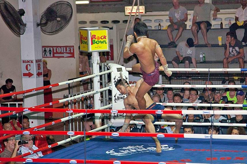 See an authentic Thai kick-box match at Patong Boxing Stadium in Phuket
