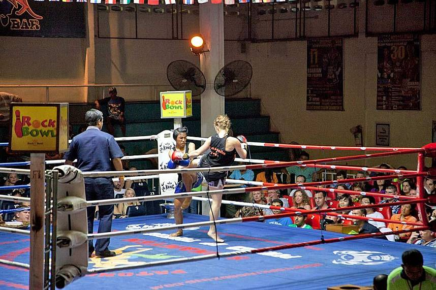 Thai versus foreigner - a great experience to watch at Phuket Patong Boxing Stadium