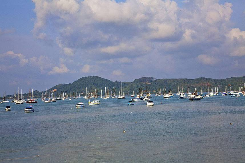 Enjoy the sight of the many boats anchored at Chalong Bay and Pier Phuket