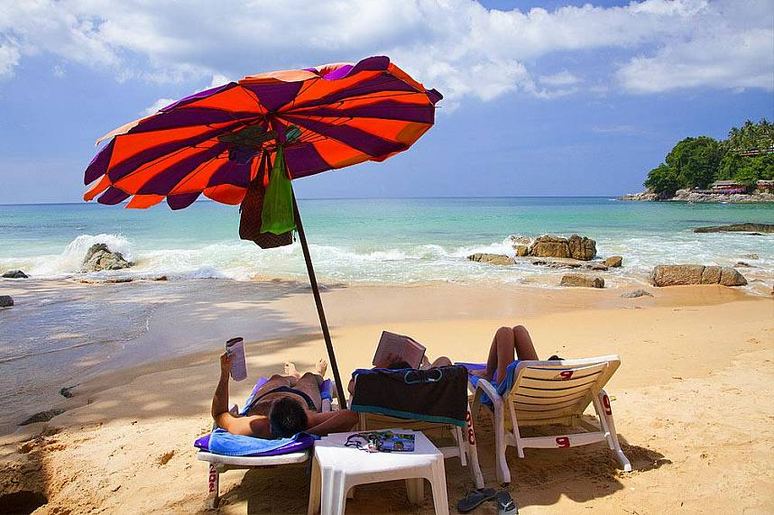 for a truly unforgettable day on the beach in Phuket you must visit Laem Singh Beach