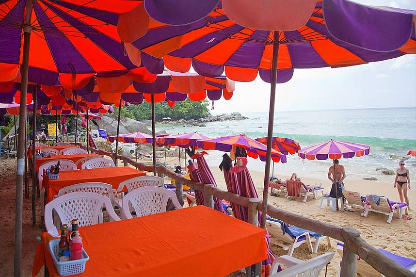 Romantic restaurant at Laem Singh Beach in Phuket