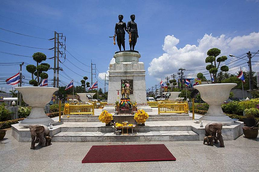 Visit the Heroine Monument - one of the top sightseeing places on Phuket island