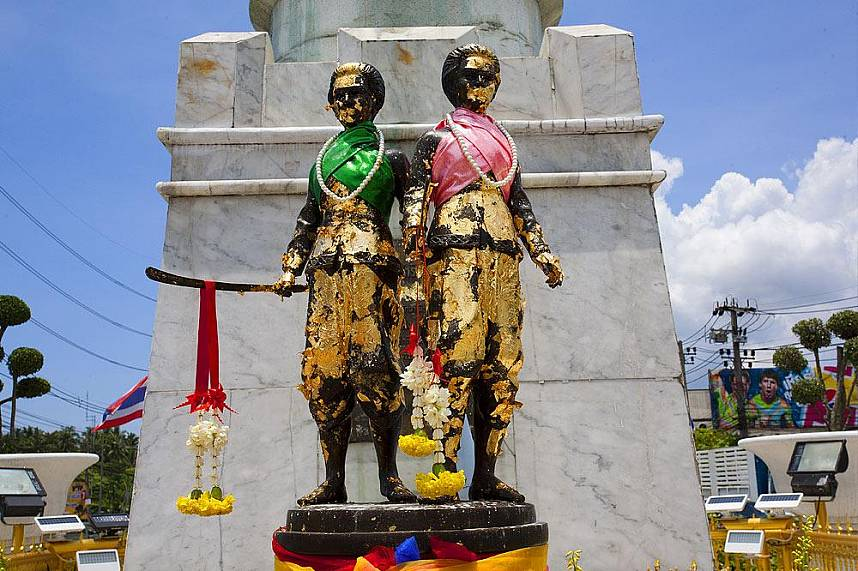 The famous sisters at Phuket Heroine Monument is a must see attraction