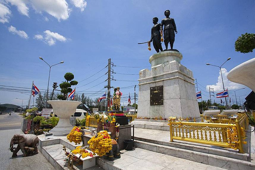 Educate yourself about Thailands history at the Phuket Heroine Monument