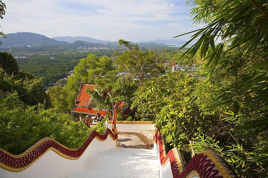 Great view from the temple at Koh Sirey over the island