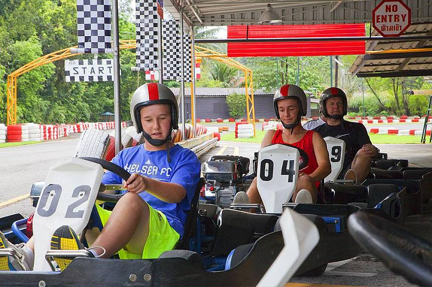 Get during your beach holiday in Phuket some excitement at Patong Go Kart Speedway