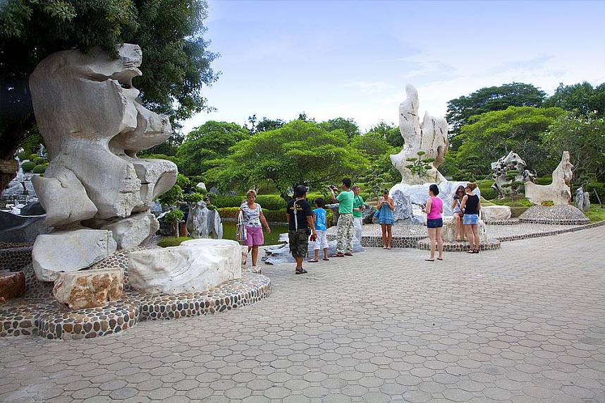 Amazing natural sculptures at Million Year Stone Park Pattaya