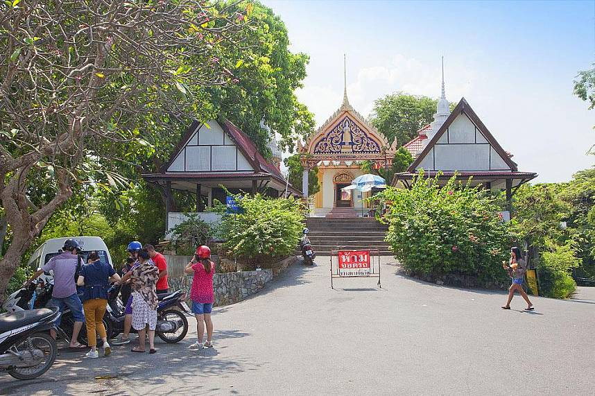Pattaya Hill Viewpoint with Khao Phra Bat is a famous tourist attraction
