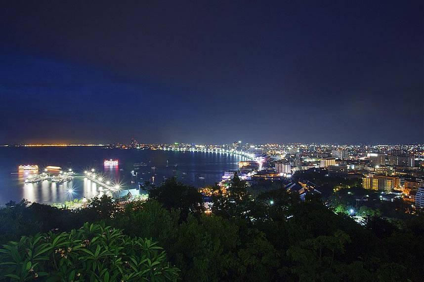Amazing sight from the Pratumnak Hill View Point Pattaya