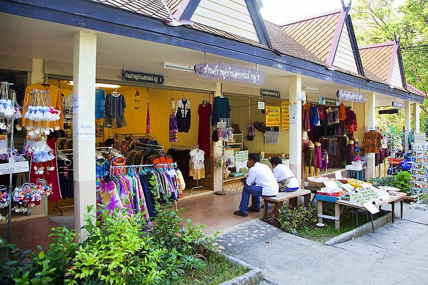 Sankhampang Hot Springs Near Chiang Mai has a few well stocked gift shops