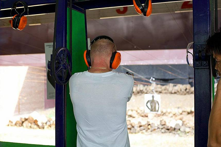 Show your still at the shooting range in Changthai Thappraya Safari and Adventure Park
