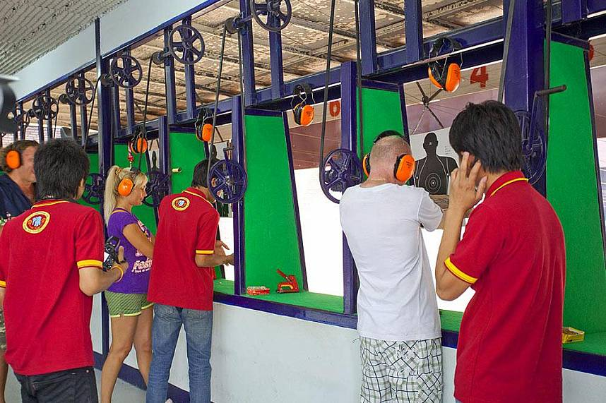 Shooting range at Changthai Thappraya Safari and Adventure Park