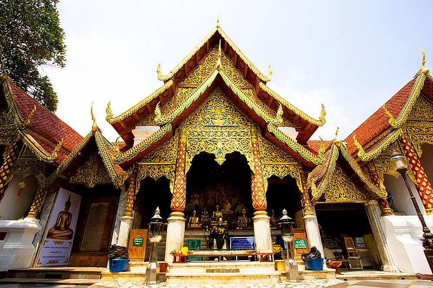 Doi Suthep Temple is the most holy temple in Chiang Mai