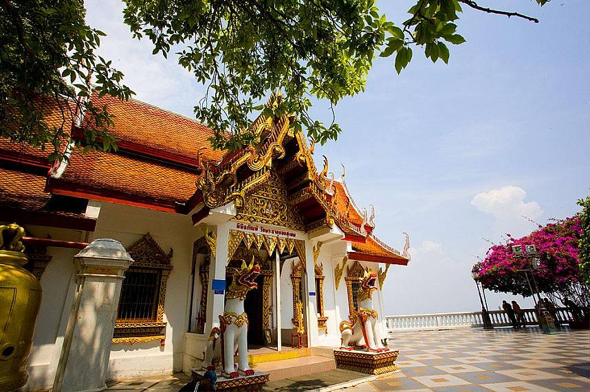 Doi Suthep Temple is high above Chiang Mai and one of Thailands most visited holy places