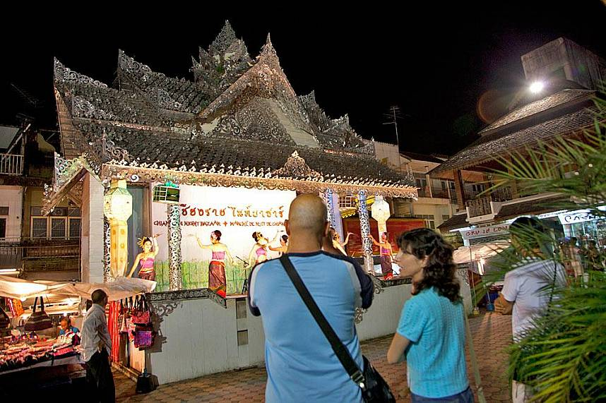 Chiang Rai night market is a great place while on a one day trip to Thailands most northern province