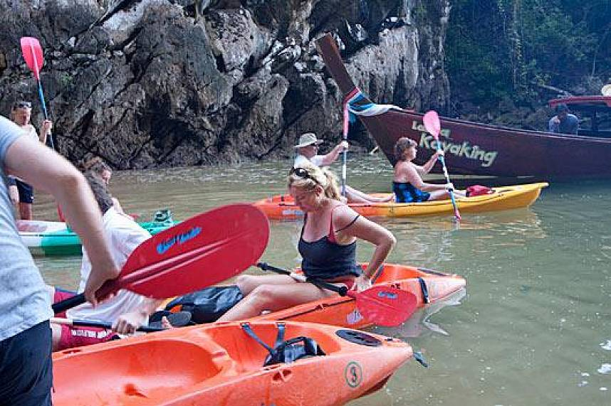 Kayak Trips in Koh Lanta are a great adventure for the whole family and friends