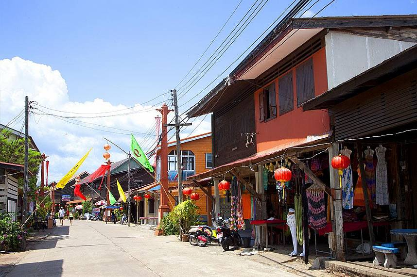 Stroll along the main street of Koh Lanta Town during your fabulous Thailand beach vacation