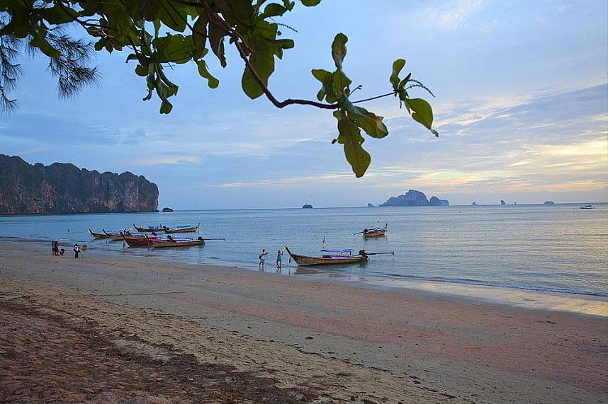 Ao Nang Beach Krabi is one of South Thailands best known beach holiday destinations