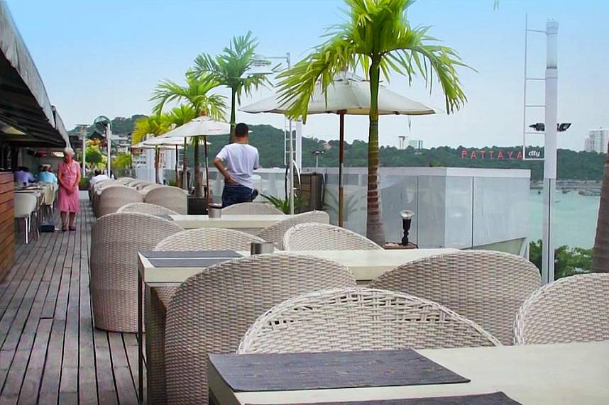 From the roof terrace at Royal Garden Plaza Pattaya you can admire the great city view