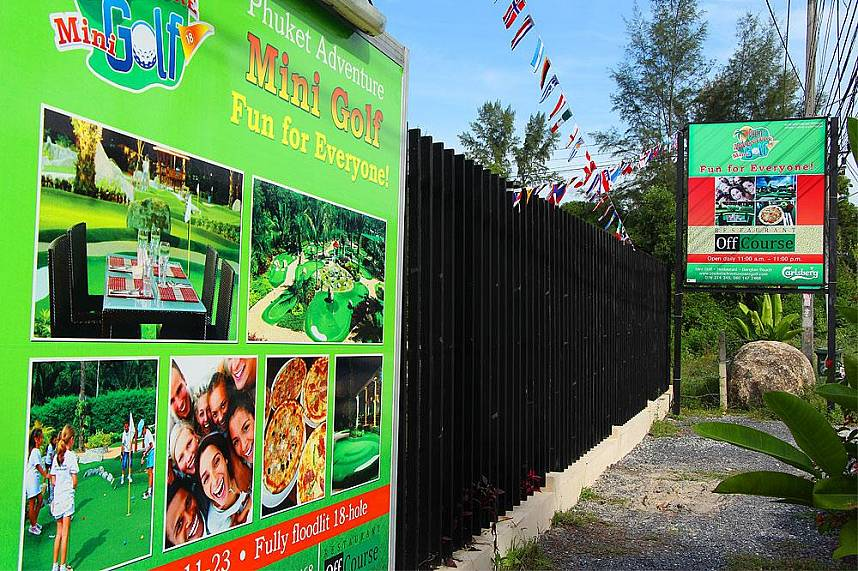 Phuket Adventure Mini Golf welcomes you and your friends for a challenging game