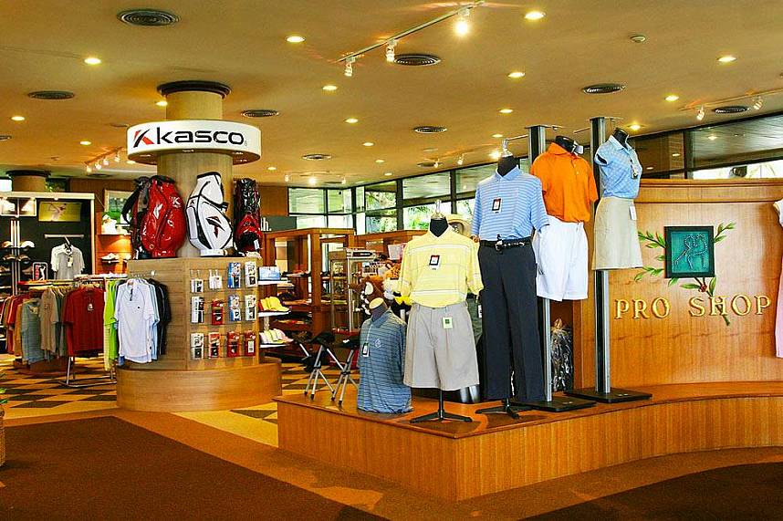 The luxurious pro shop at Laem Chabang International Country Club