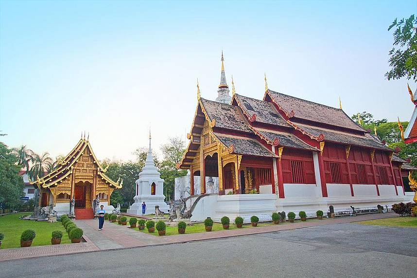 A visit to one of the many Thai Temples in Chiang Mai should not be missed