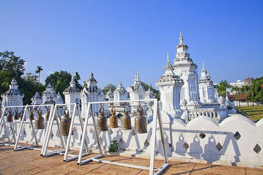 The white temple is one of the outstanding Chiang Mai Thai Temples