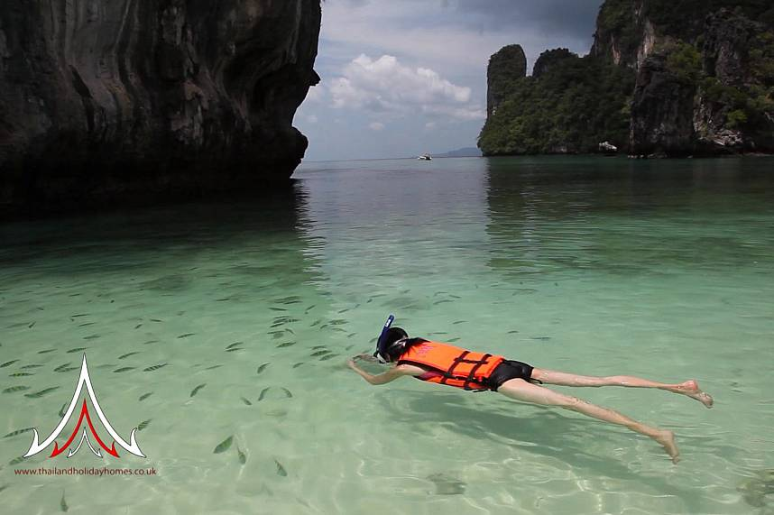 Snorkel during a Sea Kayak Tours Krabi in the crystal clear waters