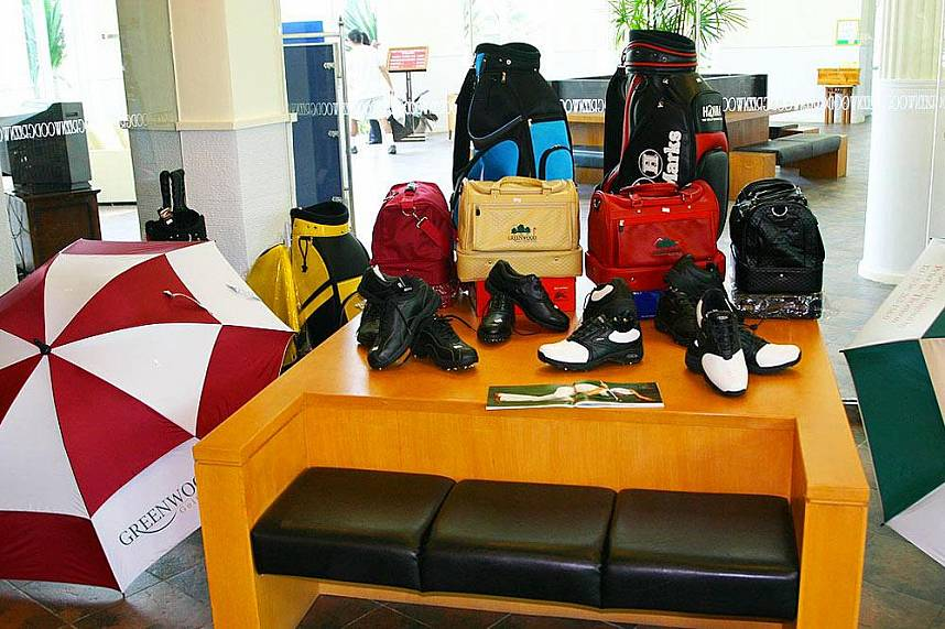 Top golf items for you at the pro shop in Greenwood Golf and Country Club Pattaya