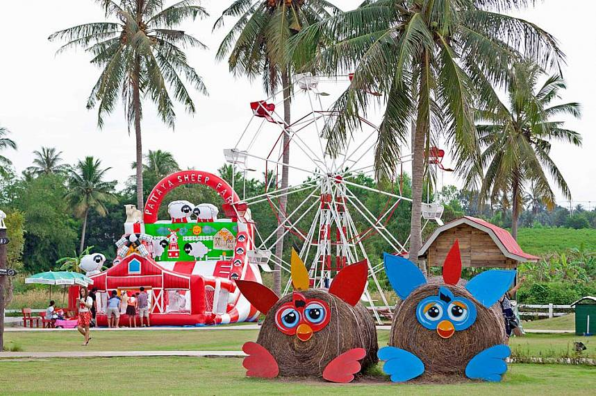 Pattaya Sheep Farm Banglamung is a perfect place for a fun day