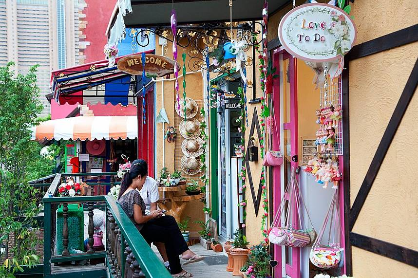 The colorful houses at Fascinating shows awaiting tourists during their Thailand holiday at Mimosa Pattaya are famous