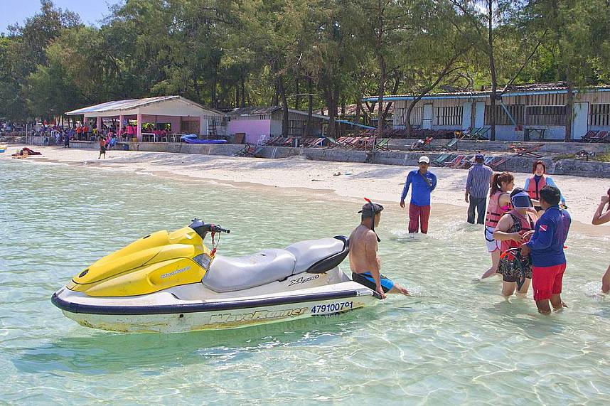 Water scooter and snorkeling are fun activities during a Pattaya 3 island boat trip