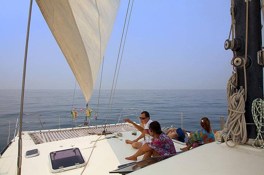 The Manora Catamara Pattaya has plenty of space for a relaxing journey
