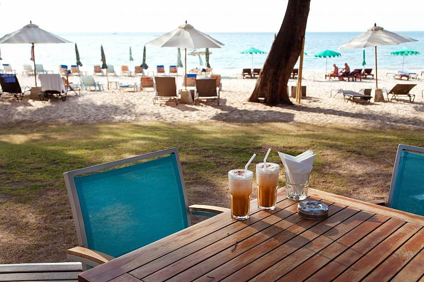 Bliss Beach Club on Bang Tao Beach is a great place for a cold drink