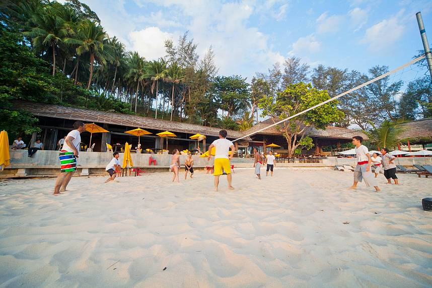 Get together and enjoy a multinational beach volley game at Zazada Beach Club Phuket