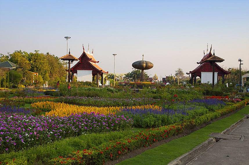 The colorful display at Royal Flora Ratchapruek Botanical Gardens invites all Chiang Mai guests