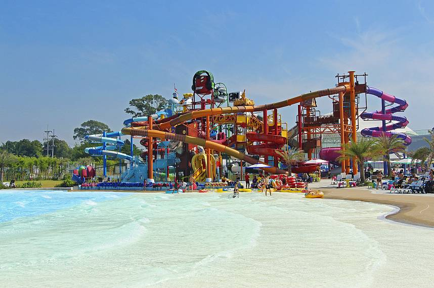 At Cartoon Network Amazone water Park Pattaya are many activities for the kids