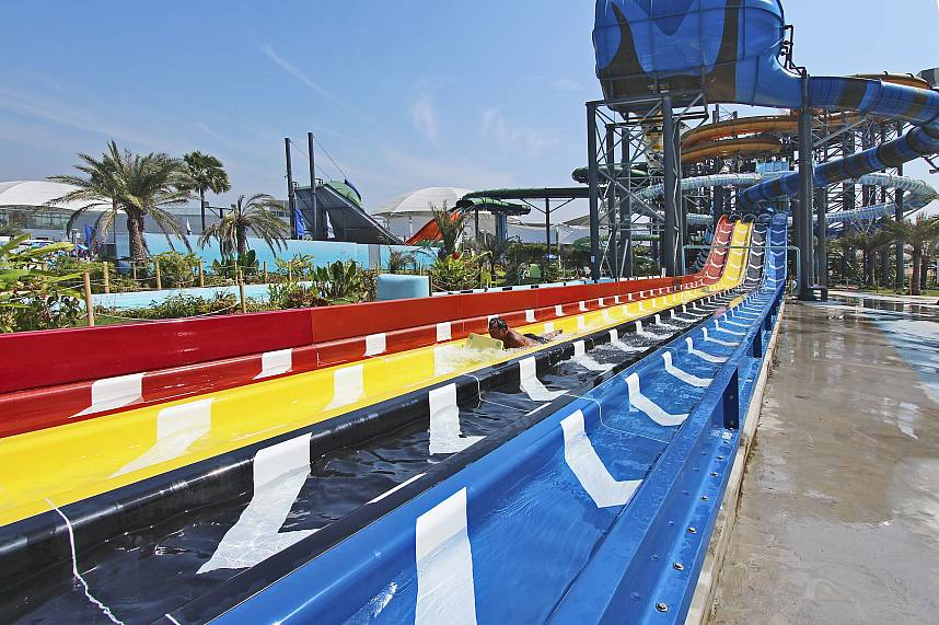 This water slide at Water Park Cartoon Network Amazone Pattaya is for all adventurous guests