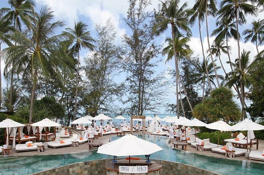 Nikki Beach Resort and Club offers a a tremendous holiday straight at the beach in Ko Samui