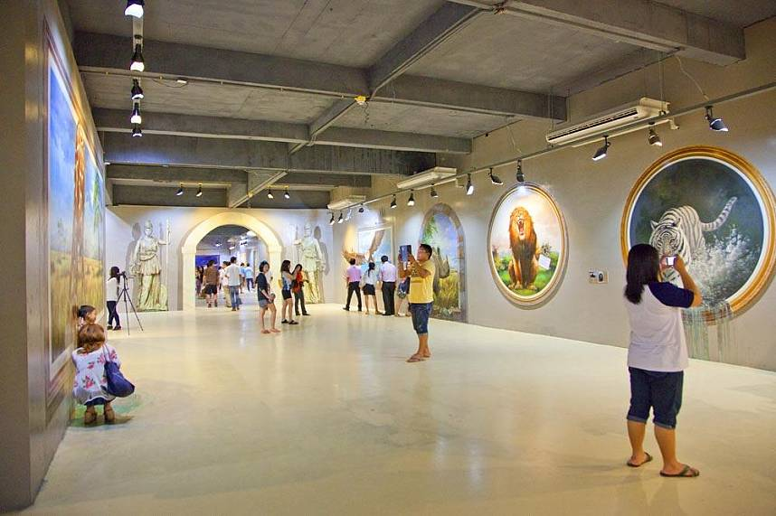 Exhibition hall at Art in Paradise Pattaya