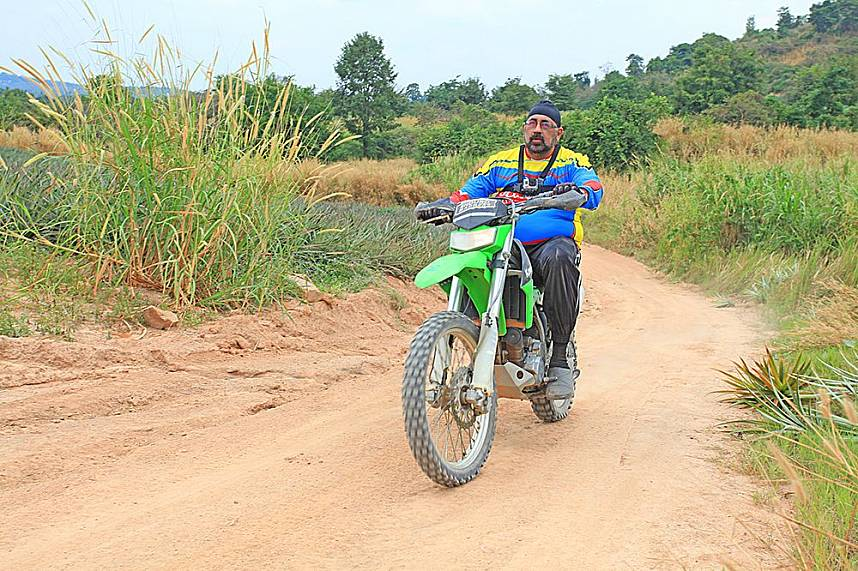 This visitor chooses a trial bike for the adventurous ATV Pattaya Jungle Adventures ride