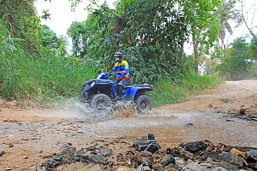 The fun buggies offer great fun during the off-road drive at ATV Pattaya Jungle Adventures