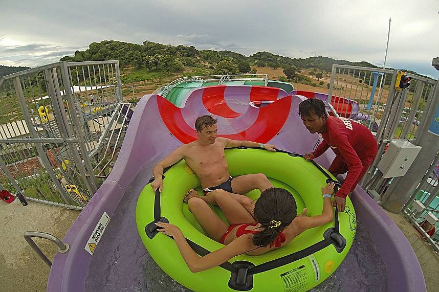 Atop the huge water glider you can enjoy a great view