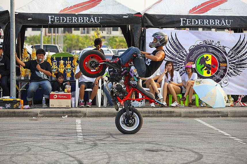 Great Pattaya holiday enterteinment at Annual Burapa Bike Show Pattaya