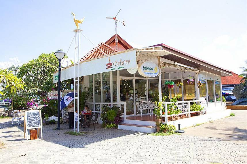 enjoy fresh coffee at Koh Loy Tropical Island near Pattaya