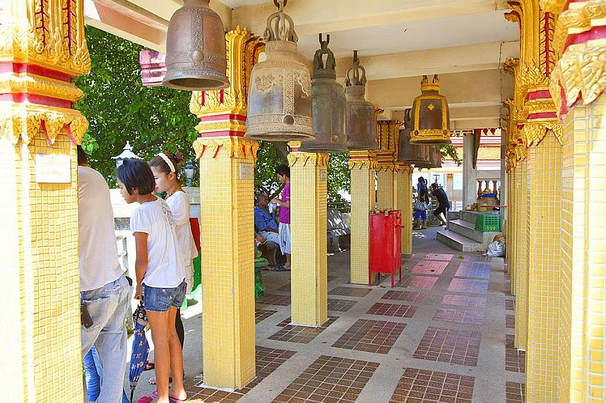 Beautiful sacred bells at a temple on Koh Loy Tropical Island Pattaya