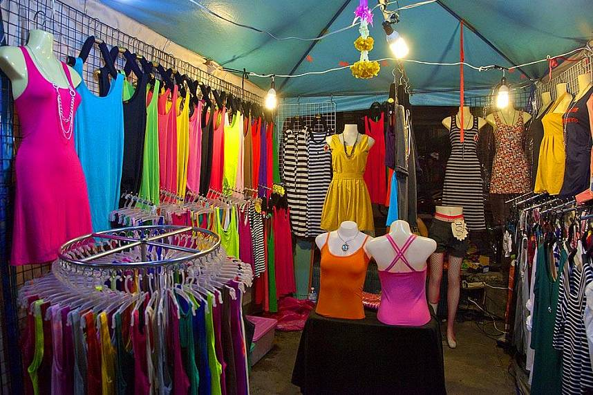 colorful dresses for the ladies at Pattaya Weekend Night Market