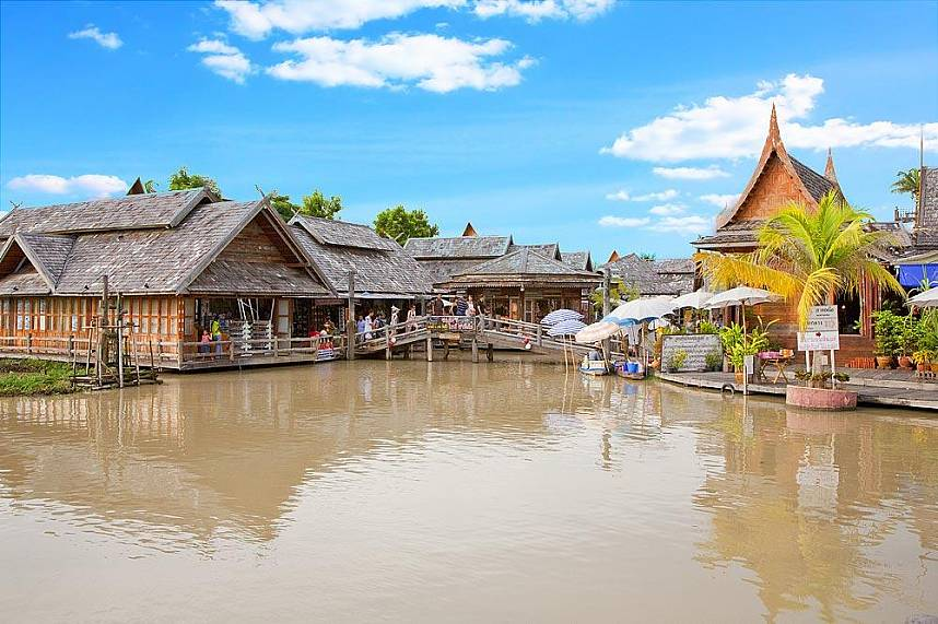 A truly unique setting at Pattaya Floating Market